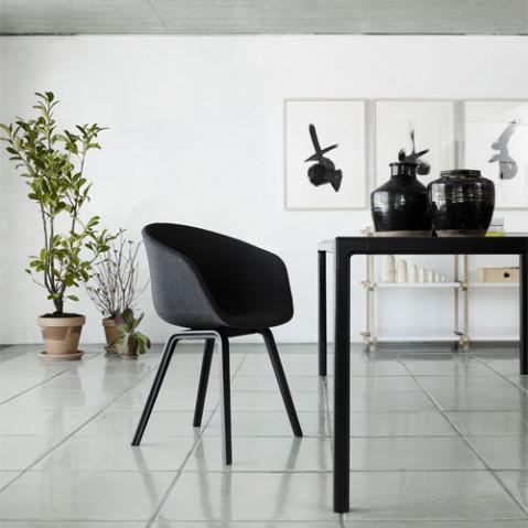 fauteuil about a chair tissu hay noir gris fonce