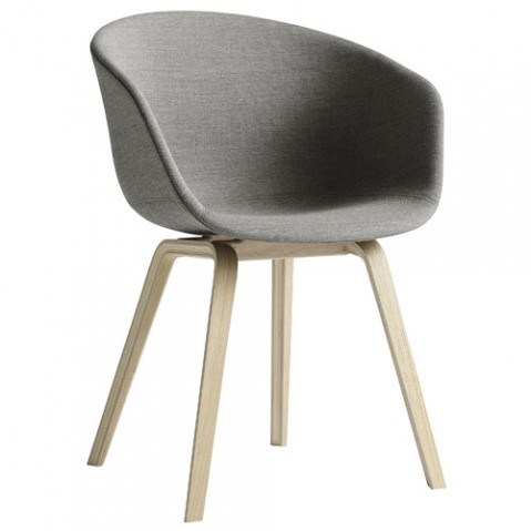 fauteuil about a chair tissu hay hetre gris clair