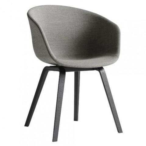 fauteuil about a chair tissu hay noir gris clair