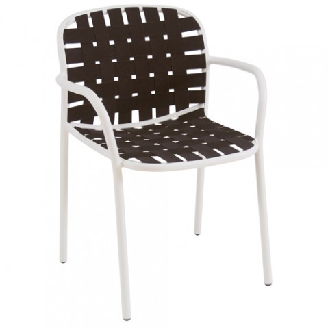 fauteuil yard emu blanc marron