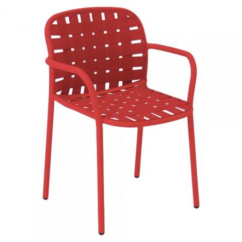 fauteuil yard emu rouge