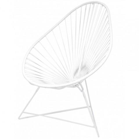 FAUTEUIL ACAPULCO, structure blanche,13 couleurs de BOQA