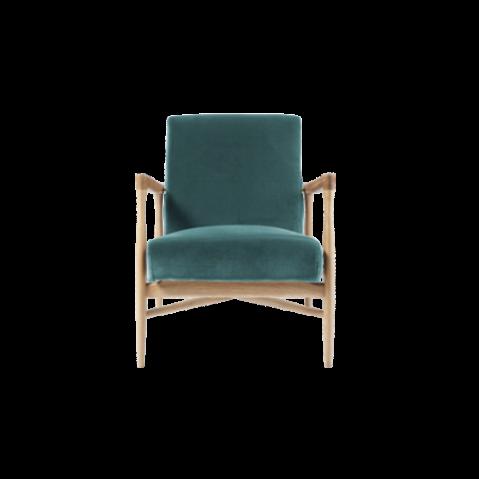 fauteuil floating tissu velours bleu canard de red edition. Black Bedroom Furniture Sets. Home Design Ideas