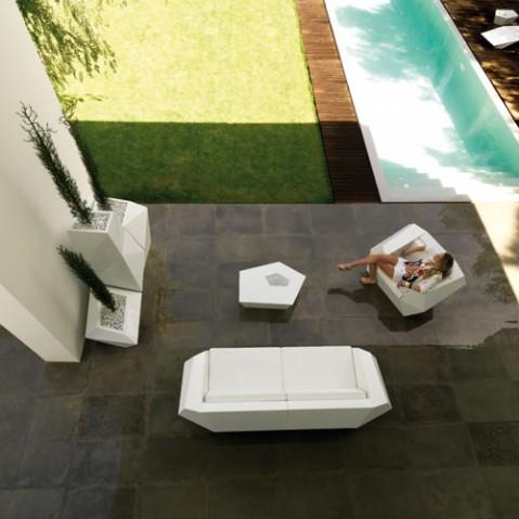 Faz Sofa Outdoor Design Vondom Laque Blanc
