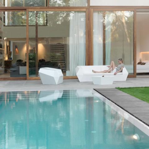Faz Fauteuil Outdoor Design Vondom Laqué Blanc