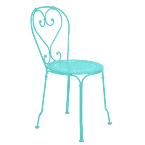 chaise 1900 fermob bleu lagune