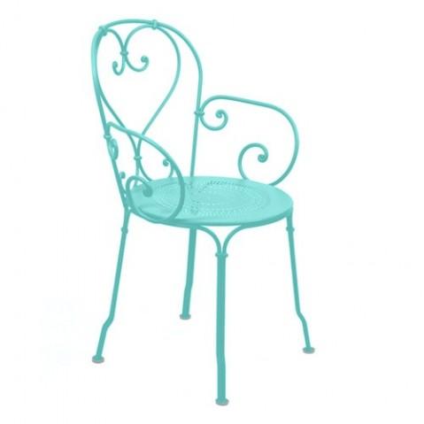 fauteuil 1900 fermob bleu lagune