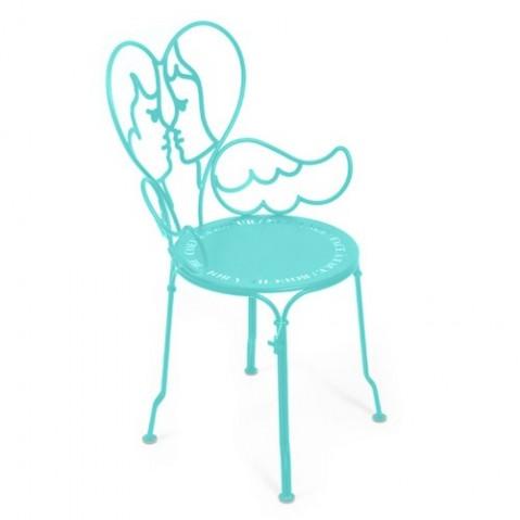 chaise ange fermob bleu lagune