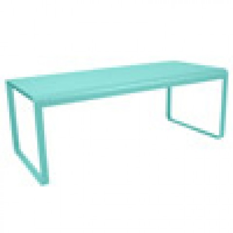 table bellevie fermob bleu lagune