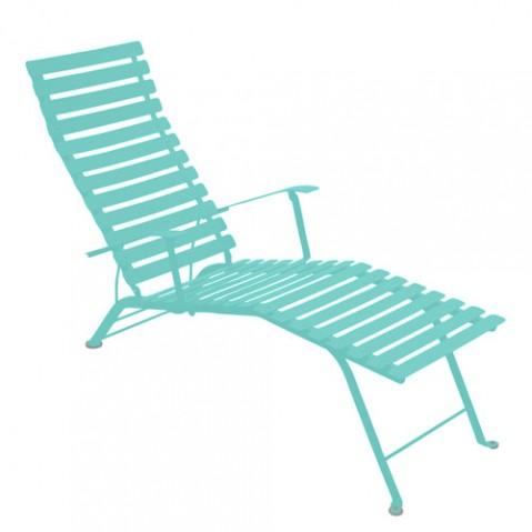 chaise longue bistro fermob bleu lagune