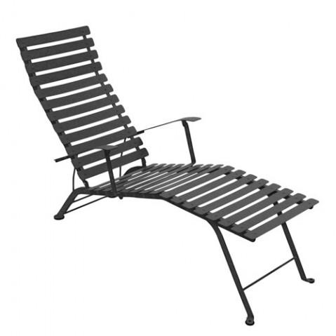 chaise longue bistro fermob carbone