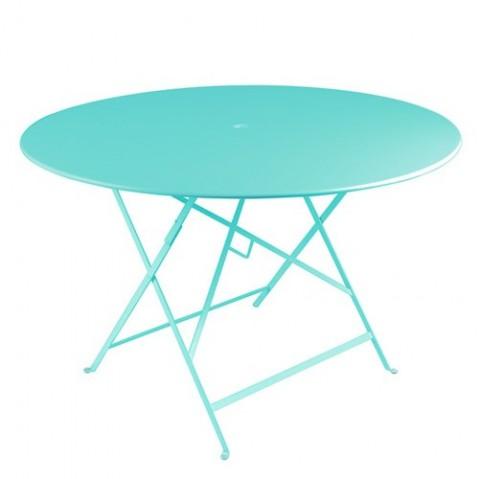 table ronde bistro 117 fermob bleu lagune