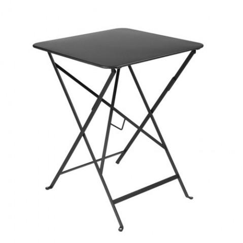 table pliante bistro 57x57cm fermob carbone