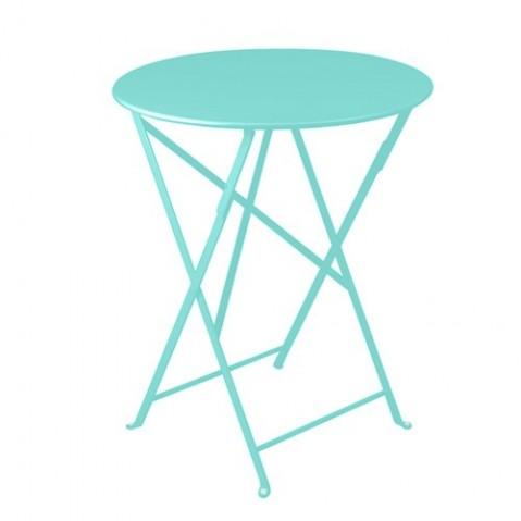table ronde bistro fermob 60 bleu lagune
