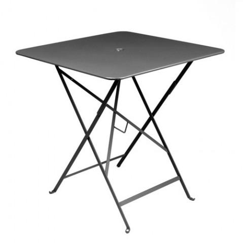 table pliante bistro 71x71cm fermob carbone