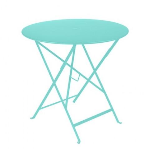 table ronde bistro 77 fermob bleu lagune