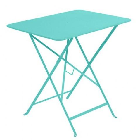 table bistro 77 fermob bleu lagune