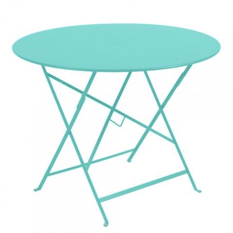 table ronde bistro fermob 96 bleu lagune