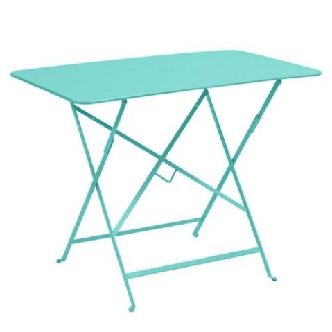 table bistro 97x57 cm fermob bleu lagune