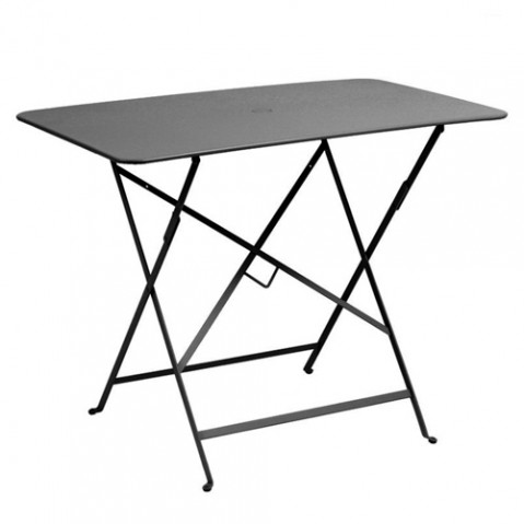 table plianteb bistro 97x57cm fermob carbone