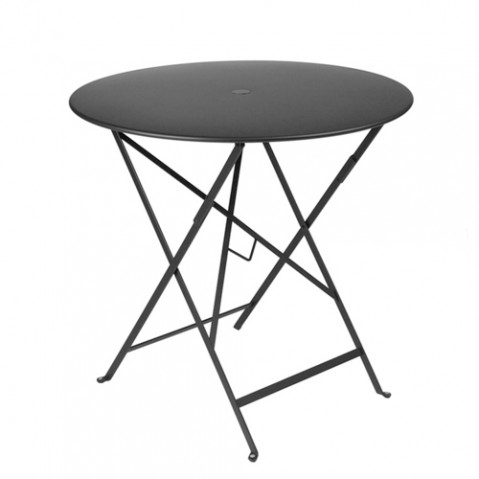 table pliante bistro 77cm fermob carbone