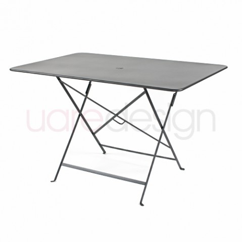 table pliante bistro 117 77cm fermob carbone