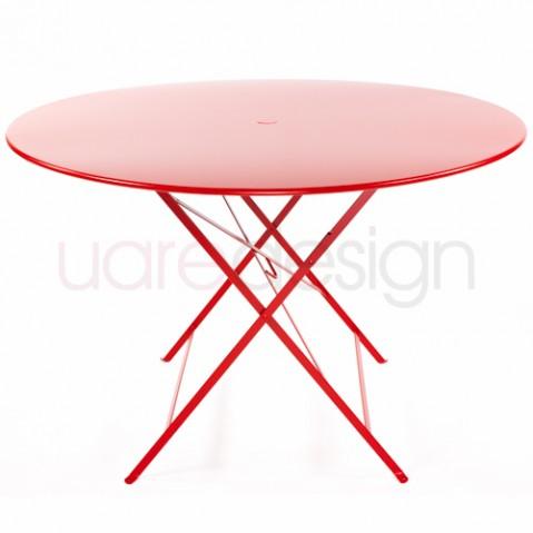 table ronde 117 fermob coquelicot