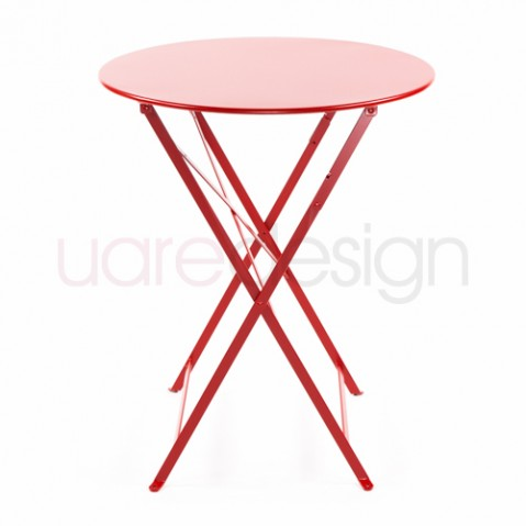 Bistro Table Ronde 60 Design Fermob Coquelicot