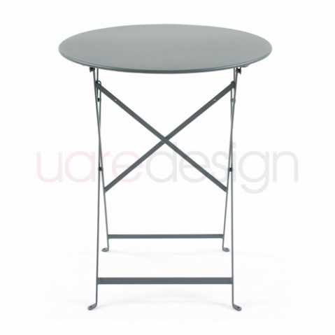 Bistro Table Ronde 60 Design Fermob Gris Orage