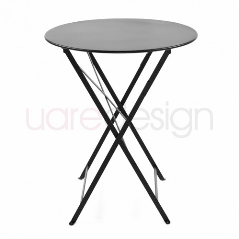 Bistro Table Ronde 60 Design Fermob Noir