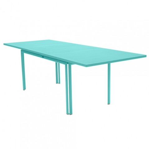table allonge costa fermob bleu lagune