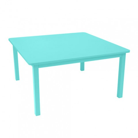table craft 143x143cm fermob bleu lagune