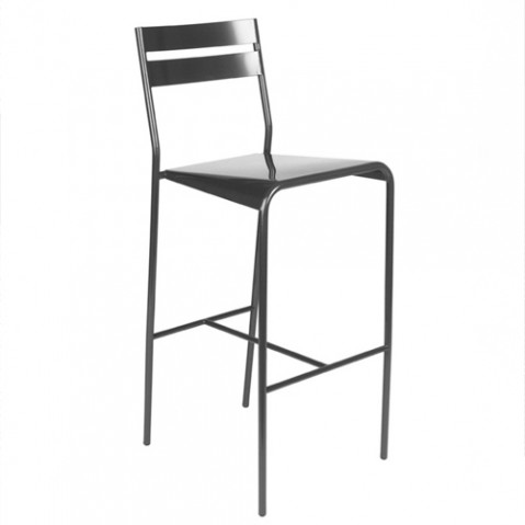 tabouret de bar facto fermob carbone