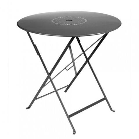 table ronde floreal 77 fermob carbone