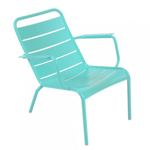 fauteuil bas luxembourg fermob bleu lagune