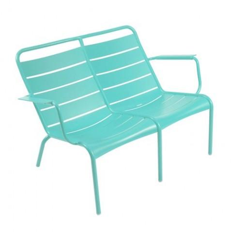 fauteuil bas duo luxembourg fermob bleu lagune