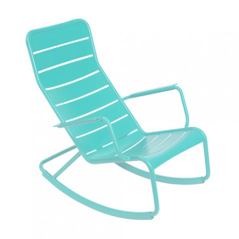 rocking chair luxembourg fermob bleu lagune