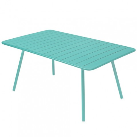 table luxembourg 165 fermob bleu lagune