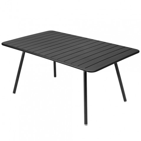 table luxembourg 165x100cm fermob carbone