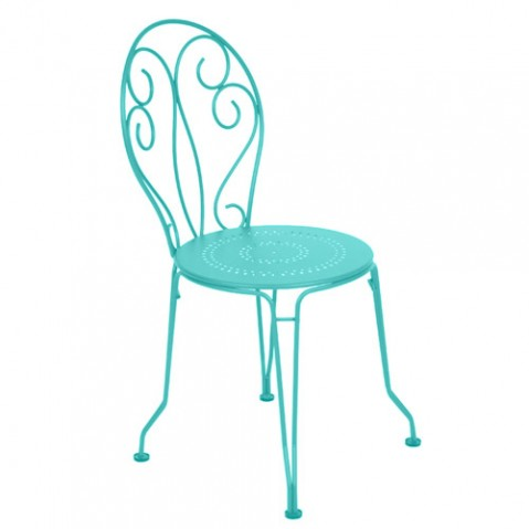 chaise montmartre fermob bleu lagune