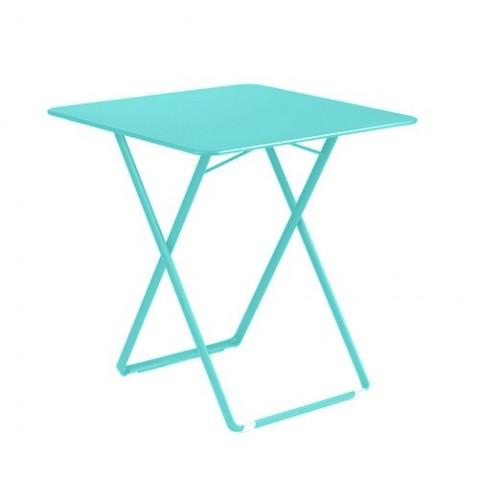table 71x71cm plein air fermob bleu lagune