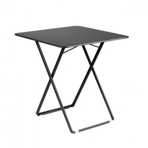 table 71x71cm plein air fermob carbone