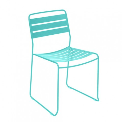 chaise surprising fermob bleu lagune