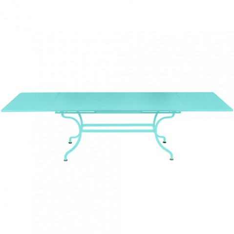 table a allonges romane fermob bleu lagune