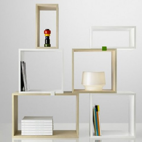 Stacked Small Etagère Design Muuto Blanc