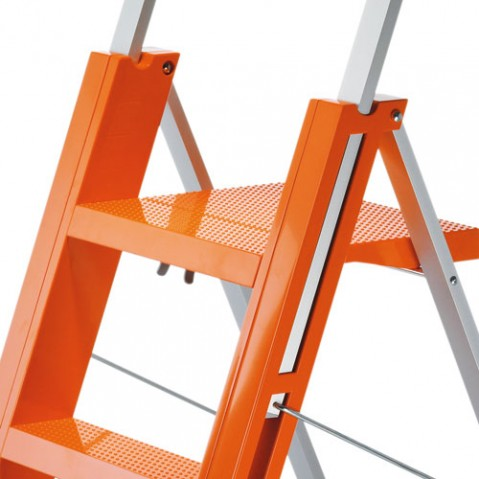 Flo Escabeau Pliant Design Magis orange