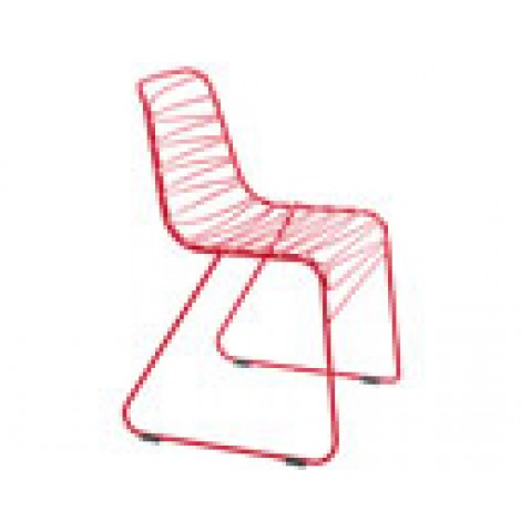 Flux Magis chaise design rouge