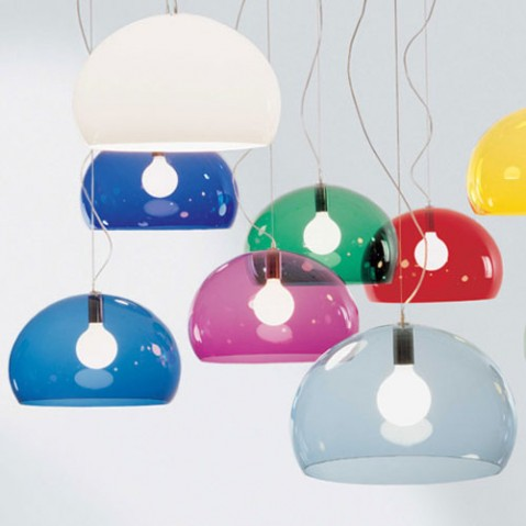 suspension fly small kartell rouge