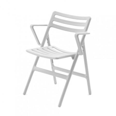 Folding Air Armchair Fauteuil Design Magis Blanc