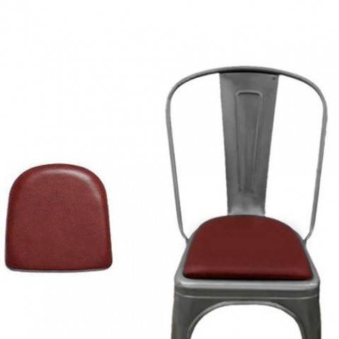 galette assise cuir tolix rouge